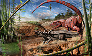Julius Csotonyi - Triassic mural 2