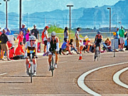 Action Sport Arts Prints - Triathlon 1 Print by Digital Photographic Arts