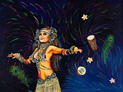 Belly Dance Paintings - Tribal Allure by Sherri Carroll