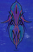 Street Rod Paintings - Tribal Blue by DeWayne Connot