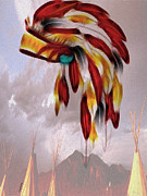 Headdress Posters - Tribal Poster by Cheryl Young