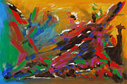 Abstract Expressionist Art - Tribal Fusion by Donna Blackhall