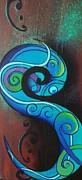 Reina Cottier - Tribal Koru Blue