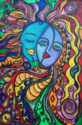 Green Day Paintings - Tribal Love by Lorinda Fore and Tony Lima