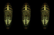 Masks Digital Art - Tribal Masks by David Dehner
