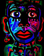 Black Background Mixed Media - Tribal by Natalie Holland