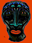 Big Lips Prints - Tribal Warrior Print by Natalie Holland