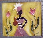 Tribal Art Paintings - Tribal Woman 2 by Jagjeet Kaur