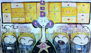 Yellow Mixed Media Metal Prints - Tribunal Of Gods And Men The Vote Against You Cast Out Of This Realm Metal Print by Mark M  Mellon