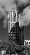 Chicago Skyline Bw Metal Prints - Tribune Tower 435 North Michigan Avenue Chicago Metal Print by Christine Till