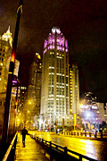 Jeanette Brown - Tribune Tower On A Rainy...
