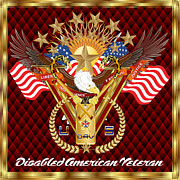 Law Mixed Media Posters - Tribute-Disabled-American-Veteran-V-4 Poster by Bill Campitelle