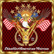 Tribute-disabled-american-veteran-v-4 Print by Bill Campitelle