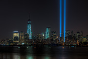 Flag Of Usa Prints - Tribute in Light XVII Print by Clarence Holmes