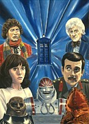 Dr Who Paintings - Tribute by Marc D Lewis