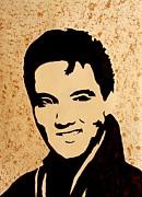 Tribute To Elvis Presley Print by Georgeta  Blanaru