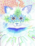 Stars Drawings Posters - Tribute to Louis Wain Poster by Ty DAvila