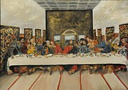 Renegade Framed Prints - Tribute to the Last Supper Framed Print by Visual  Renegade Art