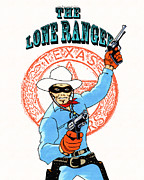 Tv Mixed Media Posters - Tribute to the Lone Ranger Poster by Mista Perez Cartoon Art