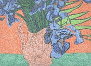 Tribute To Van Gogh's Irises Print by William Burns
