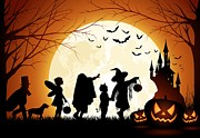 Halloween Digital Art - Trick or Treat by Sanely Great