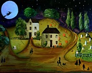 Graves Paintings - Trick or Treat Halloween Nite by Sylvia Pimental