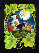 Halloween Card Prints - Trick or Treat Print by Lynn Bywaters