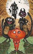 Margaryta Yermolayeva Framed Prints - Trick Or Treat Framed Print by Margaryta Yermolayeva