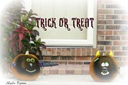 Front Porch Mixed Media Prints - Trick or Treat Print by Skyler Tipton