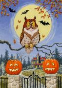 Haunted House Paintings - Trick or Treat Street by Richard De Wolfe