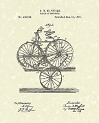 Tricycle Drawings - Tricycle 1890 Patent Art by Prior Art Design