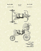 Tricycle Drawings - Tricycle 1953 Patent Art by Prior Art Design