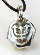 Nautical Jewelry - Trident Nautical Seeker of Truth Fine Silver Talisman by Esprit Mystique
