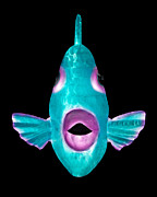 Tropical Fish Sculpture Posters - Trigger Fish Poster by Diane Snider
