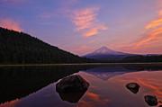 Trillium Lake Sunrise Print by Dan Mihai