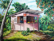 Mango Metal Prints - Trini Roti Shop Metal Print by Karin Best