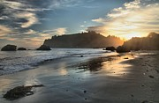 Trinidad Prints - Trinidad Beach Reflections Print by Adam Jewell