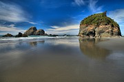Pacific Coast Beaches Framed Prints - Trinidad Reflections In The Sand Framed Print by Adam Jewell