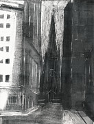 New York Mixed Media Originals - Trinity Church by Steve Dininno