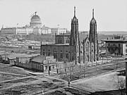 Trinity Episcopal Church 1862 Print by Padre Art