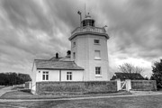 Trinity House Lighthouse Bw Print by David French