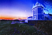Golf Photo Framed Prints - Trinity House Lighthouse Fractals  Framed Print by David French