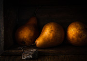 Pear Art Prints - Trio in a box Print by Constance Fein Harding