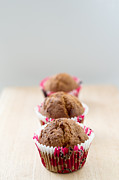 Cupcake Photography Prints - Trio of muffins Print by Ivy Ho