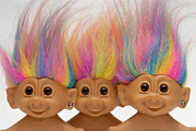 Fad Acrylic Prints - Trio of Troll Dolls Acrylic Print by Amy Cicconi