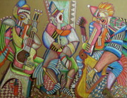 Music Pastels Originals - Trio to the throne by Anatoliy Sivkov