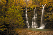 Arkansas Framed Prints - Triple Falls Framed Print by Ryan Heffron