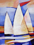 Sails Prints - Triple Sails Print by Lutz Baar