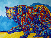 Cubs Painting Originals - Triplets by Derrick Higgins