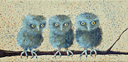 Intense Paintings - Triplets by Robin Coats